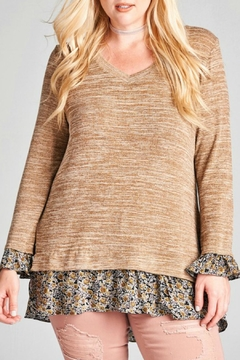Shoptiques Product: Brown Knit Tunic Top