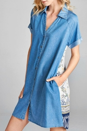 Oddi Button-Up Shirt Dress - Product Mini Image