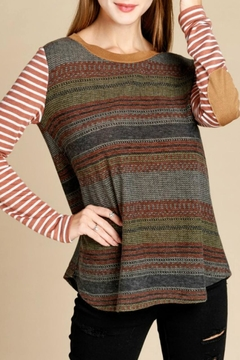 Oddi Contrasting Stripes Top - Product List Image