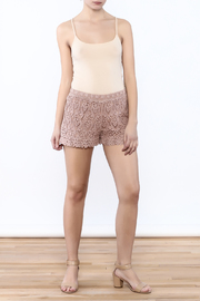 Oddi Crochet Shorts - Front full body