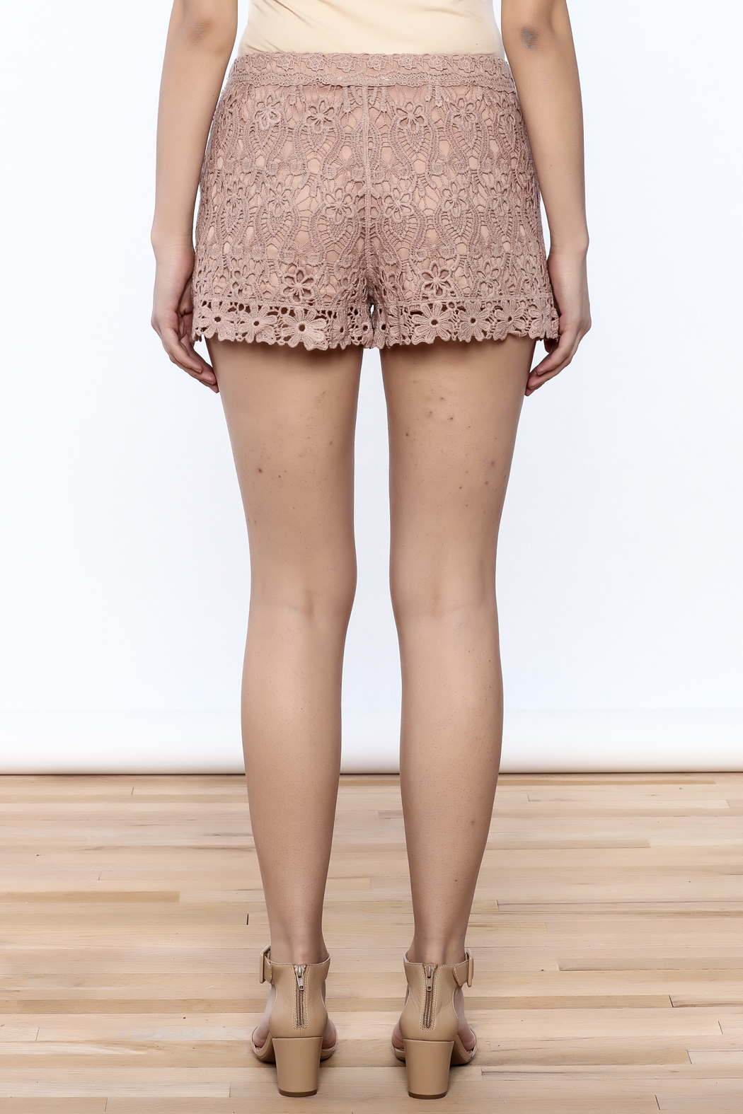 Oddi Crochet Shorts - Back Cropped Image