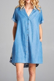 Oddi Denim Button-Up Dress - Product Mini Image