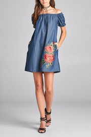 Oddi Denim & Roses Dress - Product Mini Image