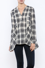 Oddi Easy Style Plaid Tunic - Product Mini Image