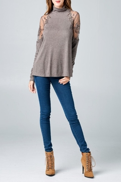 Oddi Embroidered Turtleneck Top - Product List Image