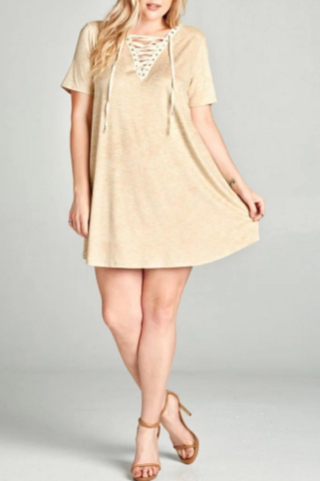 Oddi Faux Suede Dress - Front Cropped Image