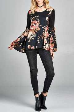 Shoptiques Product: Floral Bell Sleeve