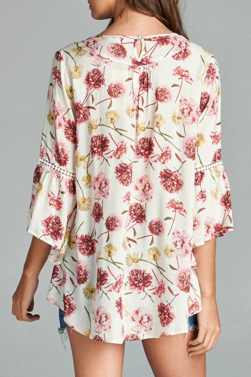 Oddi Floral Blouse - Side Cropped Image