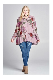 Oddi Floral Button/down Top - Product Mini Image
