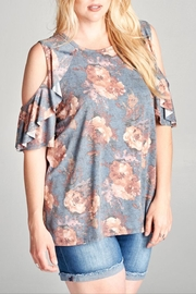 Oddi Floral Cold-Shoulder Top - Product Mini Image