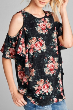 Shoptiques Product: Floral Cold-Shoulder Top