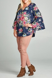Oddi Floral Keyhole Blouse - Side cropped