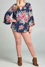 Oddi Floral Keyhole Blouse - Front cropped
