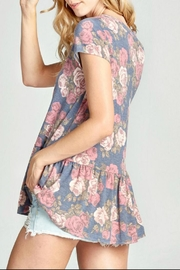 Oddi Floral Keyhole Top - Front full body