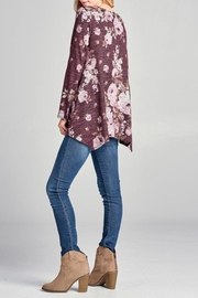 Oddi Floral Lace-Up Top - Other