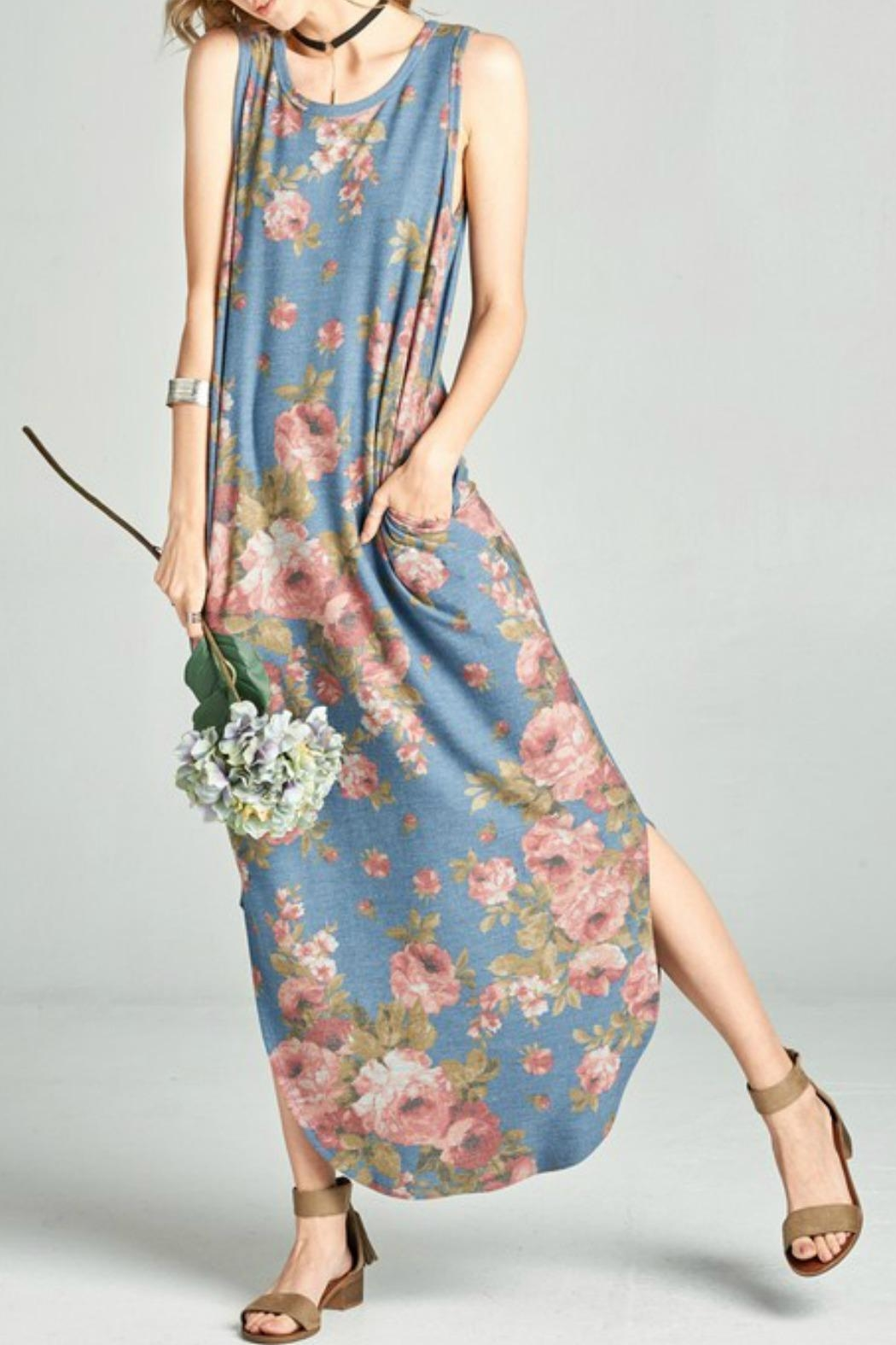 Oddi Floral Maxi Dress - Front Cropped Image