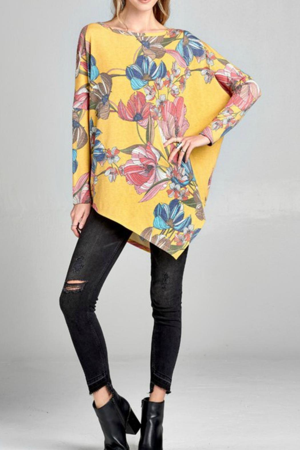 Oddi Floral Oversized Top - Front Full Image