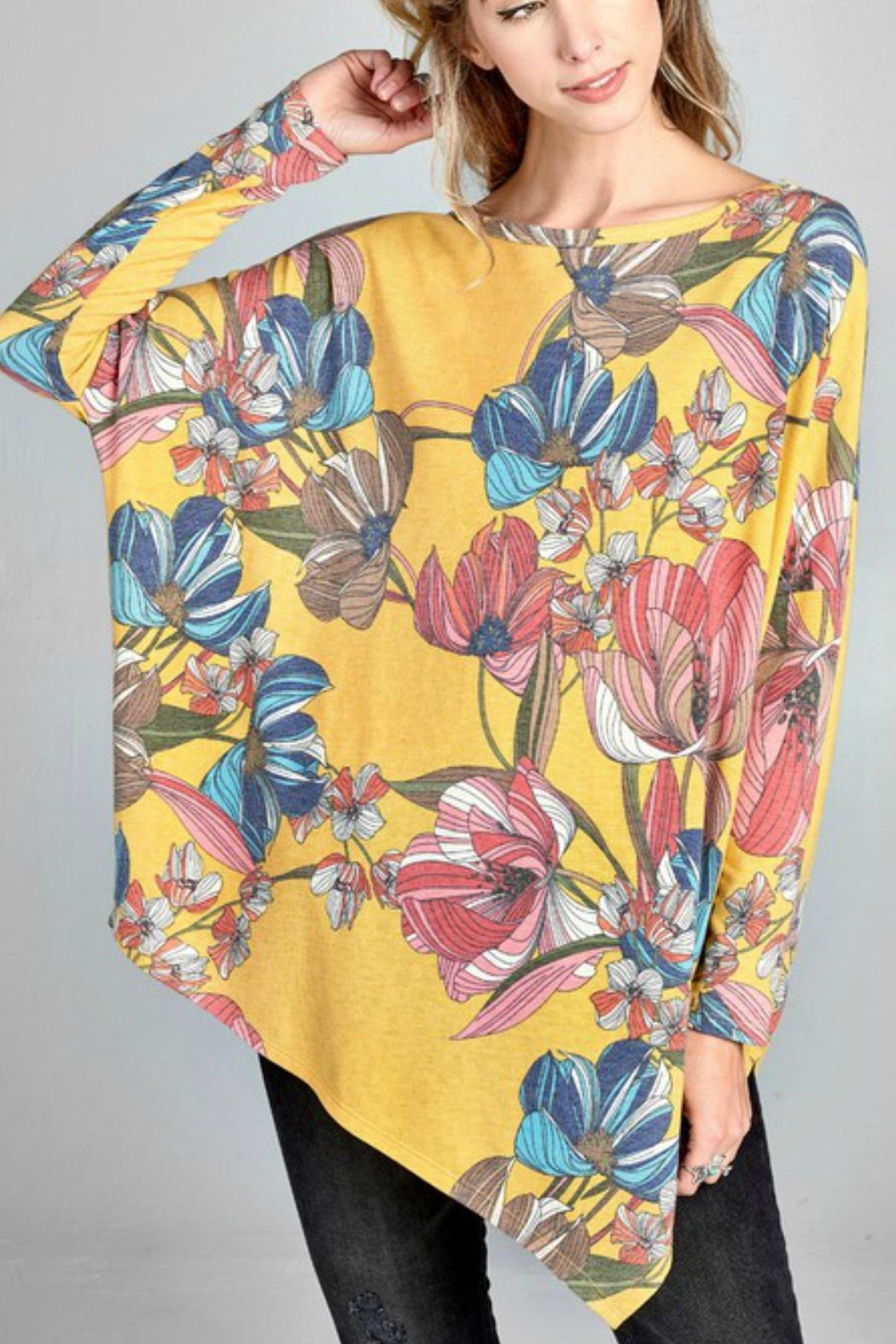 Oddi Floral Oversized Top - Main Image