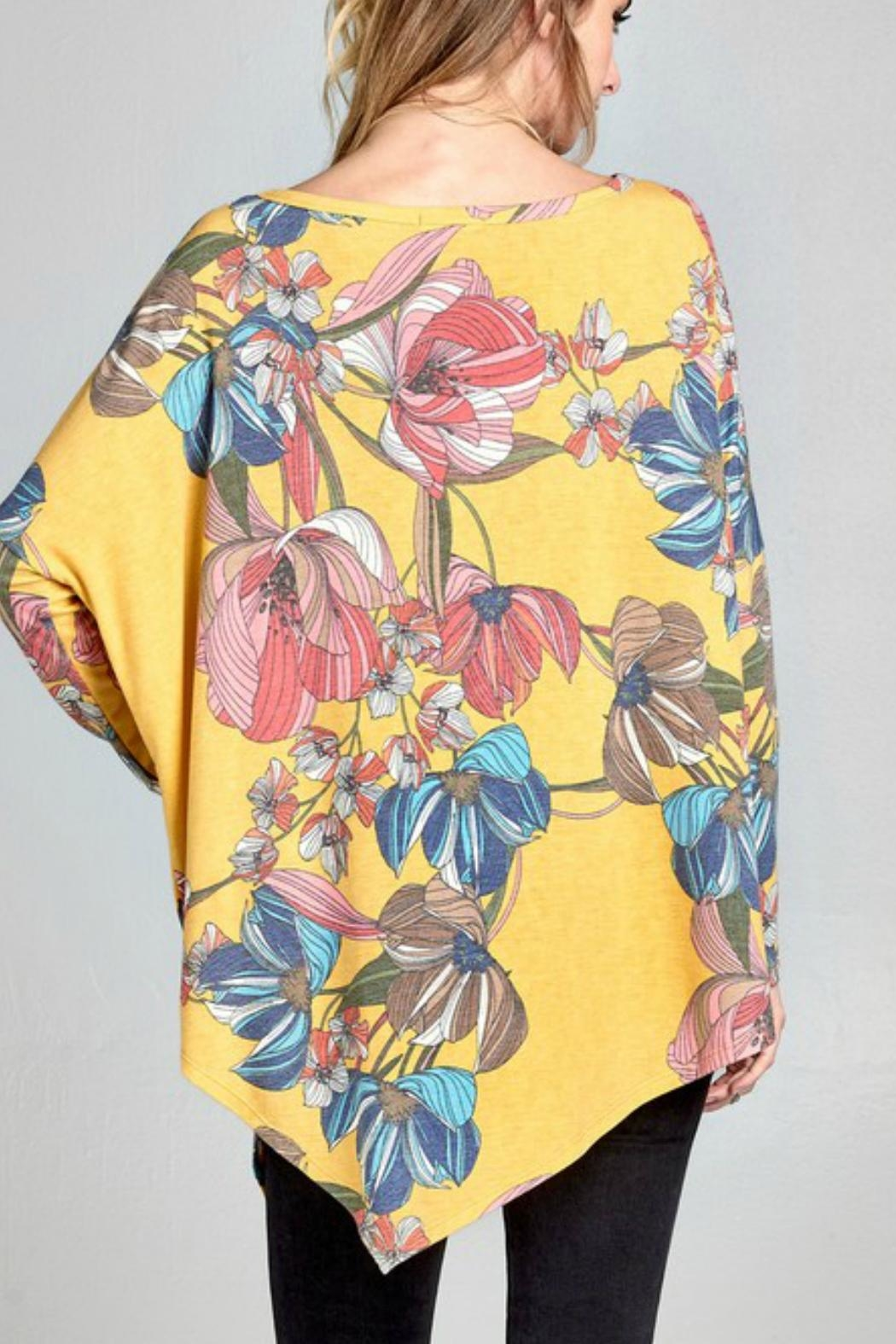 Oddi Floral Oversized Top - Side Cropped Image