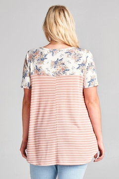 Oddi Floral Print Stripe Top - Alternate List Image