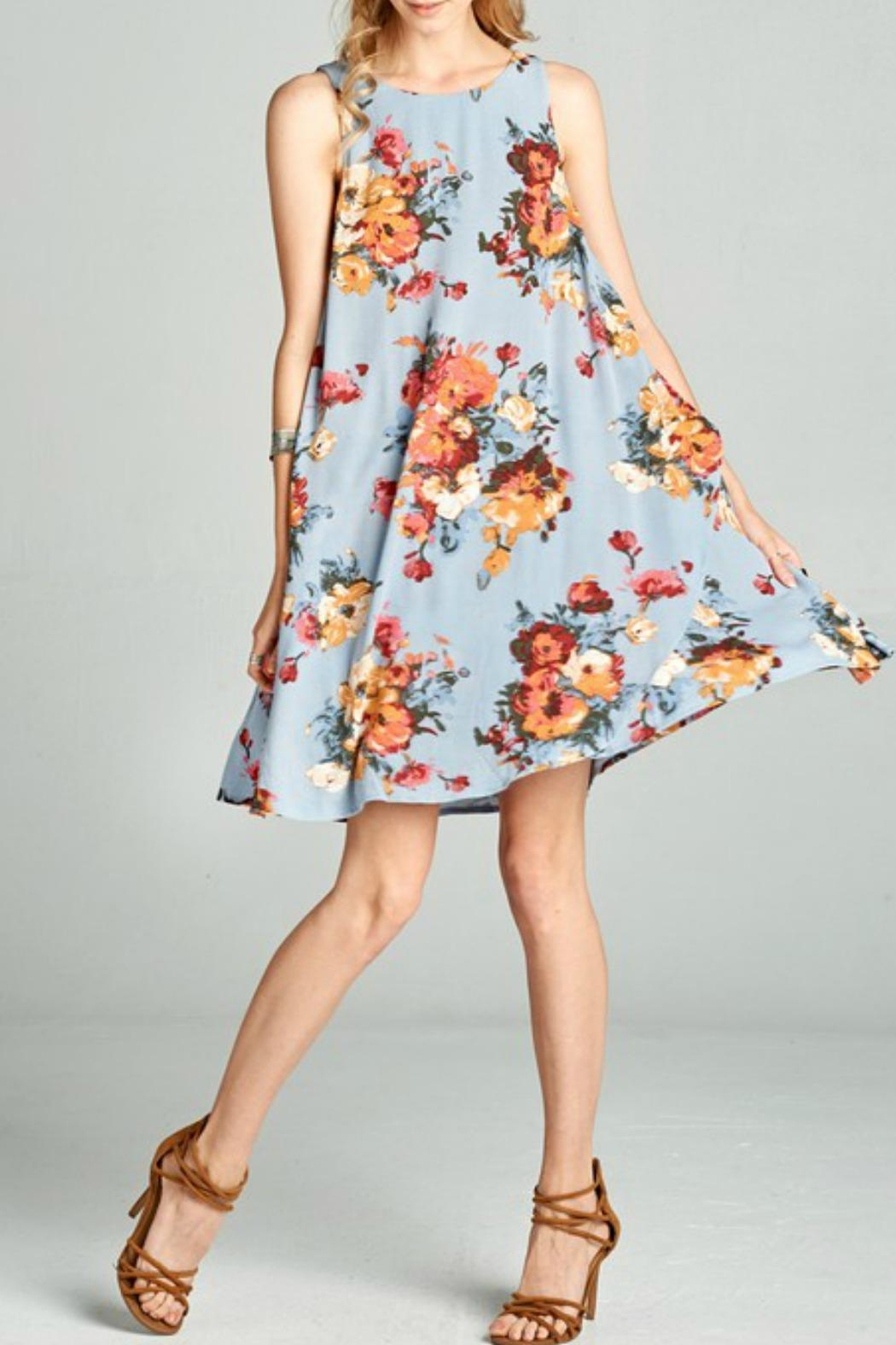 Oddi Floral Swing Dress - Main Image