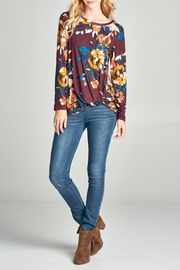 Oddi Floral Twist Top - Product Mini Image