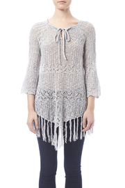 Oddi Grey Fringe Sweater - Side cropped