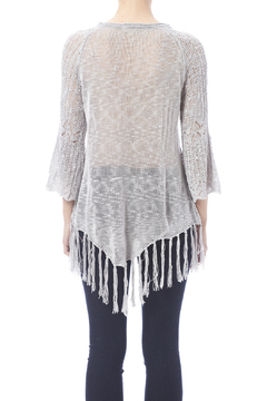 Oddi Grey Fringe Sweater - Alternate List Image