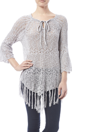 Oddi Grey Fringe Sweater - Product Mini Image