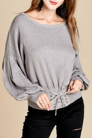 Oddi Lace Up Sweater - Product Mini Image