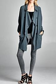 Oddi Lightweight Peacoat Style Jacket - Front cropped