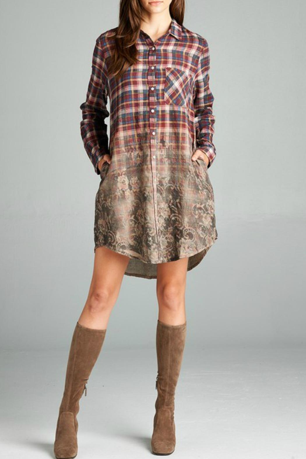 Oddi Long Sleeve Plaid Dress - Main Image