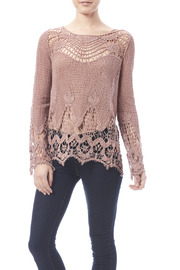 Oddi Mauve Crochet Top - Front cropped