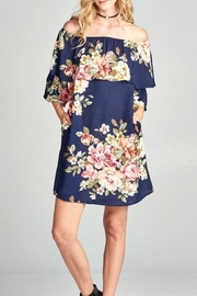 Oddi Navy Floral Dress - Product Mini Image