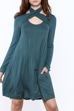 Oddi Teal Flare Dress - Product List Image