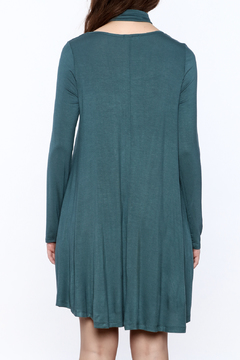 Oddi Teal Flare Dress - Alternate List Image