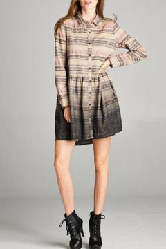 Oddi Ombre Shirt Dress - Product List Image