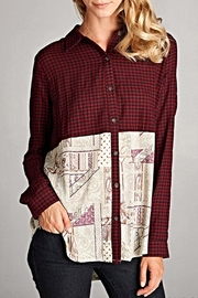 Oddi Paisley Patchwork Blouse - Front full body