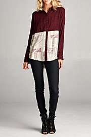 Oddi Paisley Patchwork Blouse - Product Mini Image