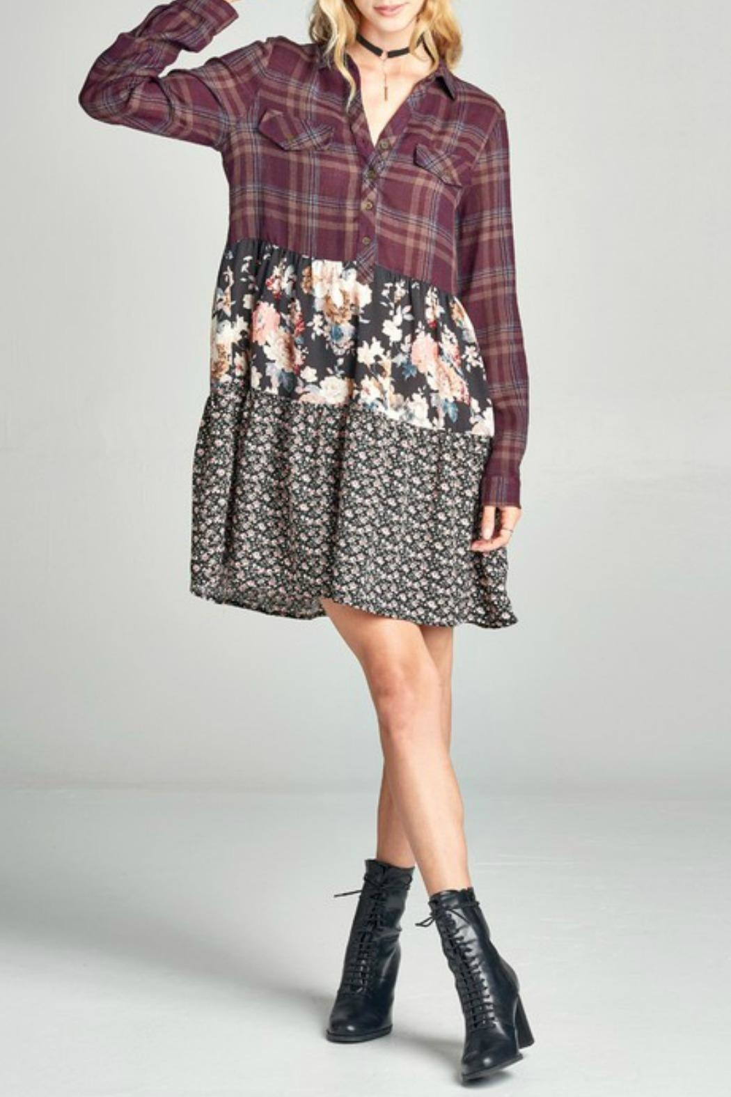 Oddi Patterned Dress - Main Image