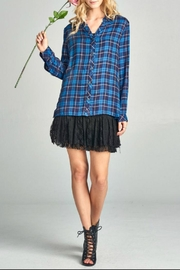 Oddi Plaid Lace-Up Side - Product Mini Image