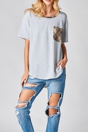 Oddi Plaid Pocket Tee - Product Mini Image