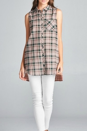 Oddi Plaid Print Button-Up - Product Mini Image