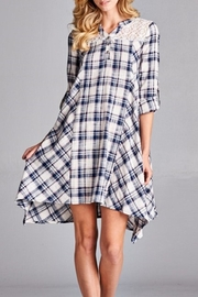 Oddi Plaid Swing Dress - Product Mini Image