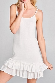 Oddi Ruffled Slip Dress - Product Mini Image