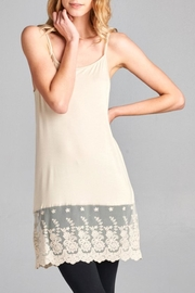 Oddi Scalloped Lace Cami Extender - Front cropped