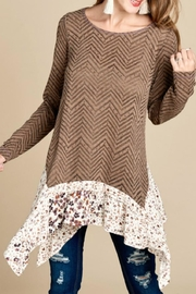 Oddi Sharkbite-Hem Sweater Tunic - Product Mini Image