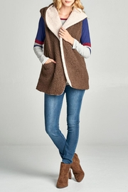 Oddi Shearling Pocket Vest - Product Mini Image
