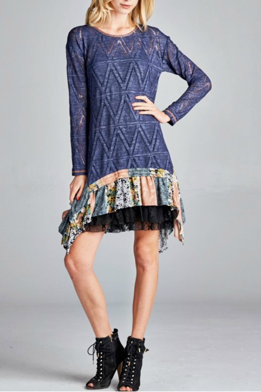 Oddi Sheer Knit Tunic - Front Cropped Image