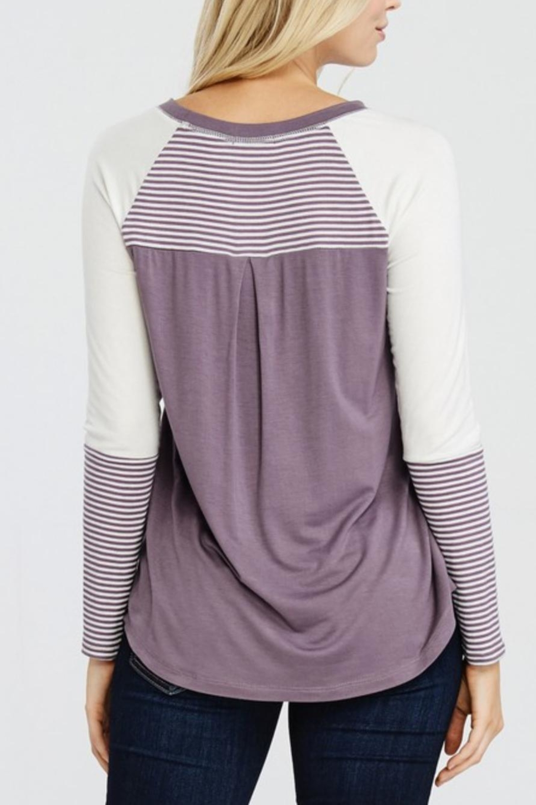 Oddi Striped Heart Top - Side Cropped Image